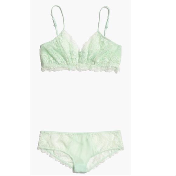 f6ecdfa477761 HONEYDEW x MADEWELL Lace Bralette Panty Set SMALL